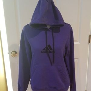 Women's large Adidas hoodie purple